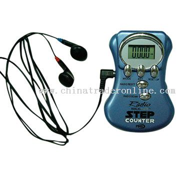 Pedometer with FM Radio