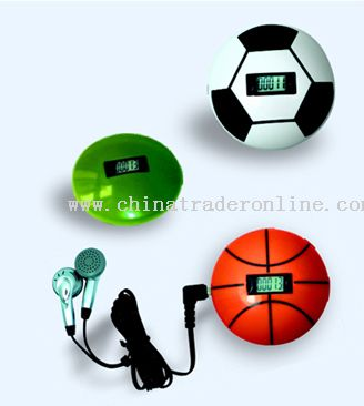 Football/Basketball Pedometer with Radio