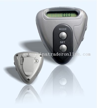 Heart shape pedometer with radio