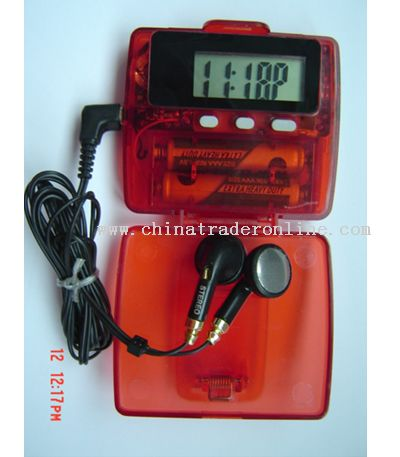 Pedometer with Calorie Counter and FM Radio
