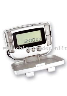 Pedometer with radio