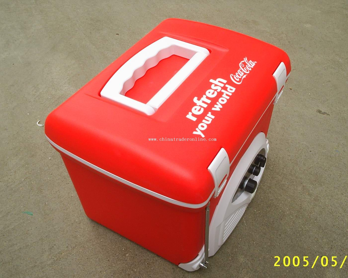 Red Cooler box radio