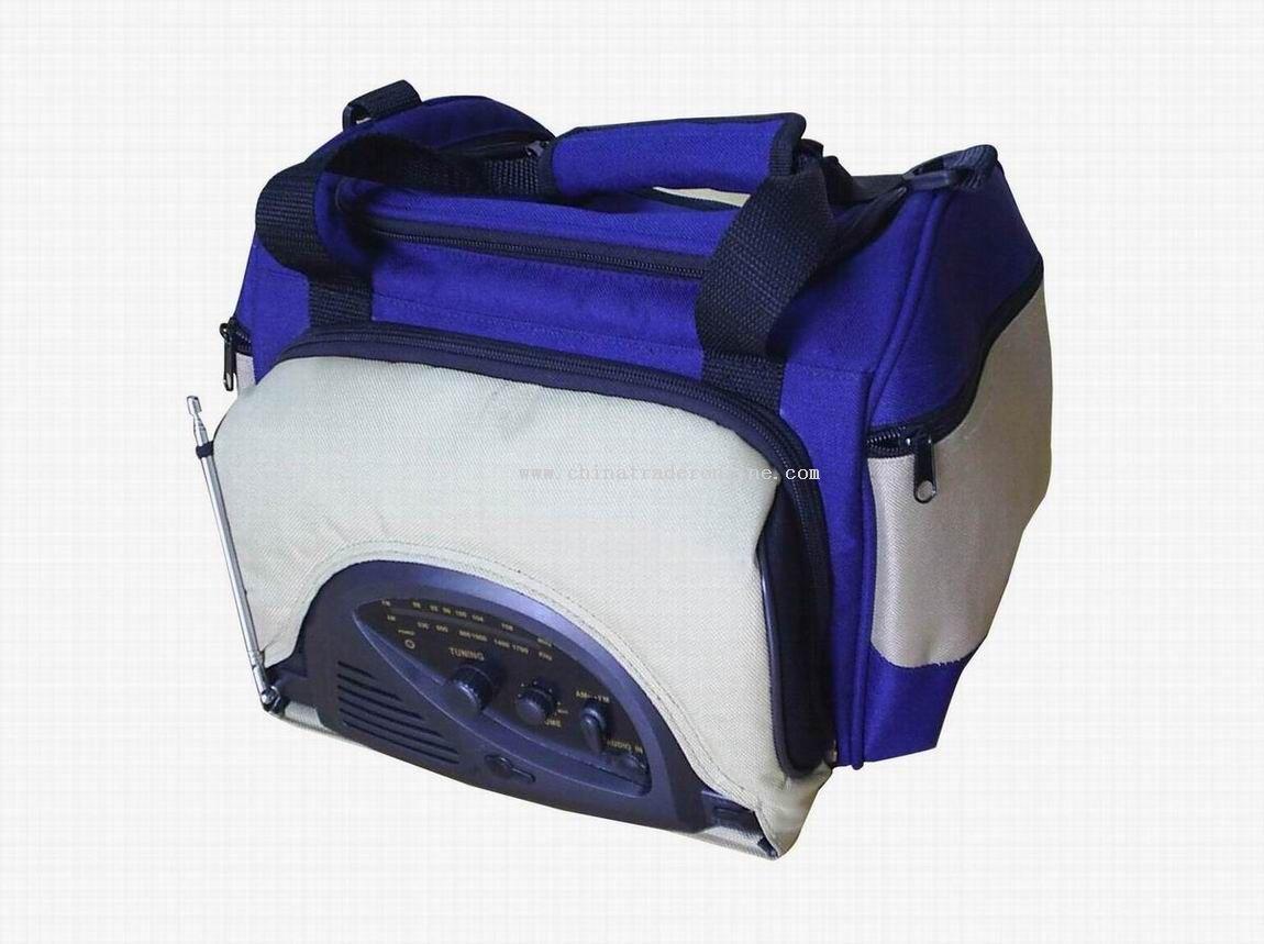 Travelling bag radio