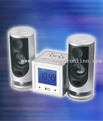 MULTIFUNCTION RADIO WITH TWO EXTERNAL SPEAKERS
