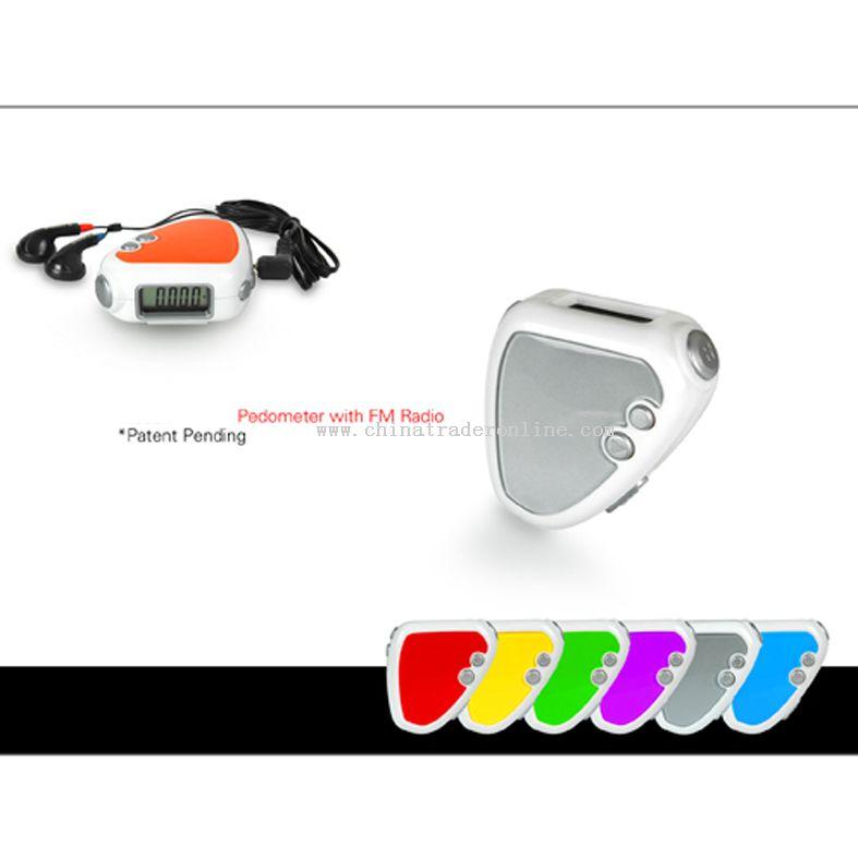 Pedometer with FM Radio