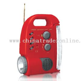 Rechargeable Emergency Light with Radio