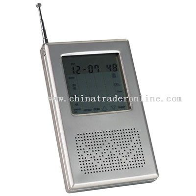Touch-screen Fm scan Radio Clock and Calculator
