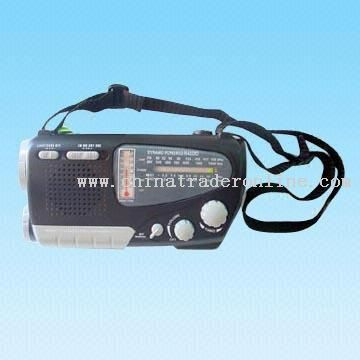 AM/FM/SW1-2 4-Band Multifunctional Dynamo and Solar Radio with Compass/Torch/Thermometer Function