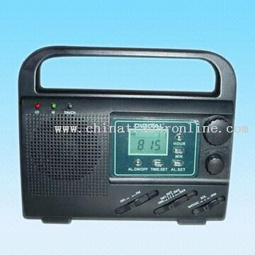 AM/FM/SW1-4 6-Band Dynamo and Solar Radio with Digital LCD Screen