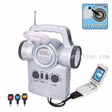Dynamo AM/FM Multi-Emergency Light Radio from China