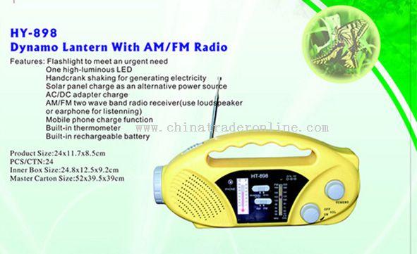 Dynamo Lantern AM/FM Radio
