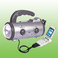 DYNAMO EMERGENCY LIGHT RADIO w/mobile charger