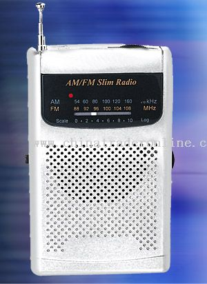 AM/FM SLIM POCKET RADIO