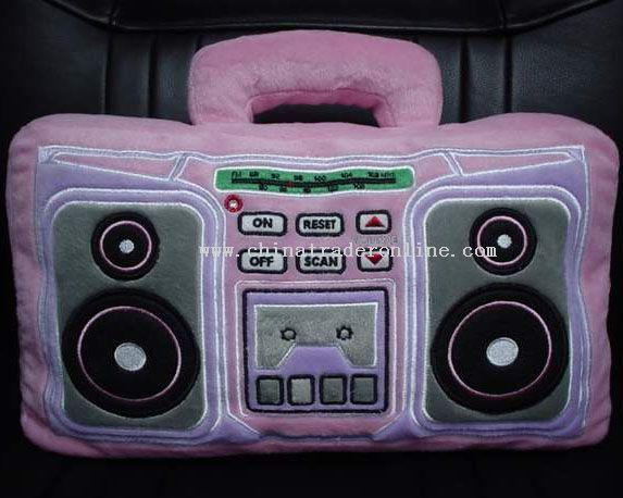 Recorder Pillow Radio/ Cutie Cushion Radio from China