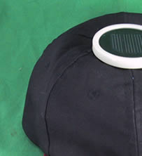 Monocrystalline Solar Fan cotton twill Cap from China