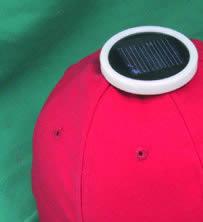 Multicrystalline Solar Fan cotton twill Cap