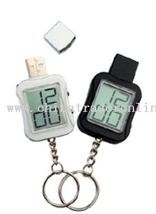 USB flash disk with clock