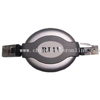 RJ11 to RJ11 Retractable Cable