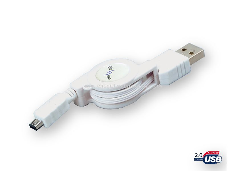 USB A M-MINI USB 4p LOCK BM Cable
