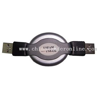 USB AM to AM Retractable cable