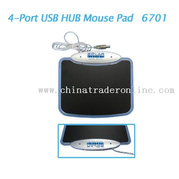 4-Port USB HUB Mouse PAD