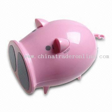 Pig-shaped USB Multimedia Speaker with Auto Scan FM Radio