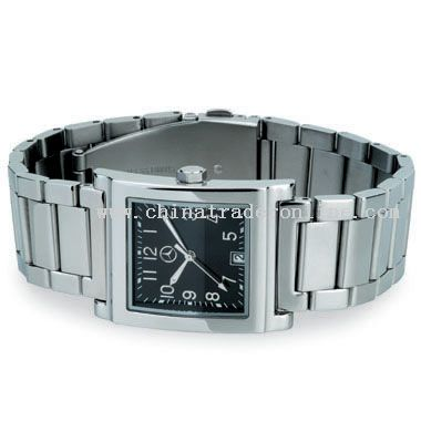 shiny silver Classic Watch