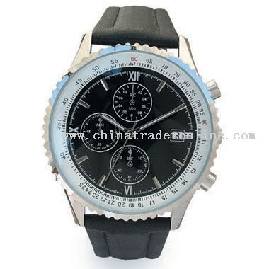 shiny silver Watch