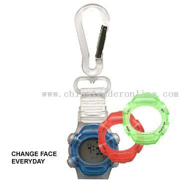 Face-off watch keychain