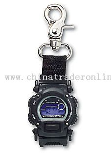 Plastic Chrono LCD Clipwatch