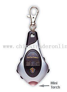 Plastic Chronograph LCD keychain
