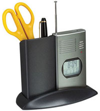 penholder calendar& FM radio