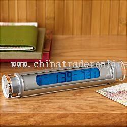 travel alarm clock flashlight