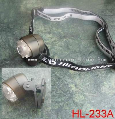 1LED Headlamp with a clamp