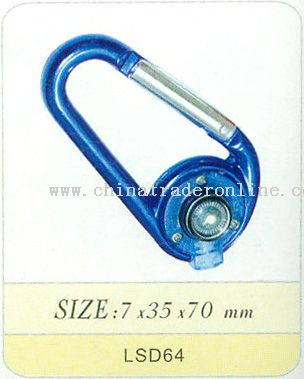 Carabiner Torch with Compass