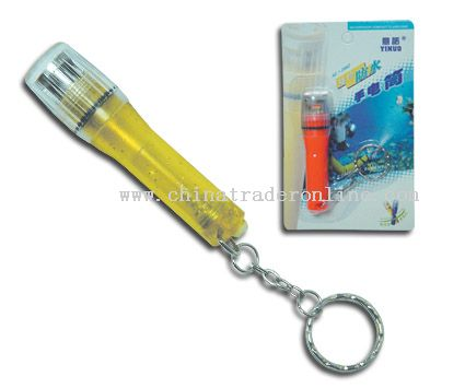 WATERPROOF FLASHLIGHT with keychain