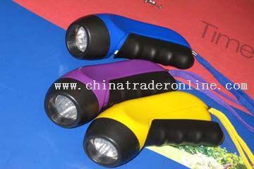Two light environmental protection flashlight