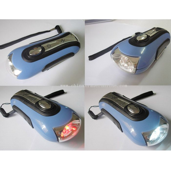 Multi-use Wind-up Torch/Alarm/Radio/Charger/Flash