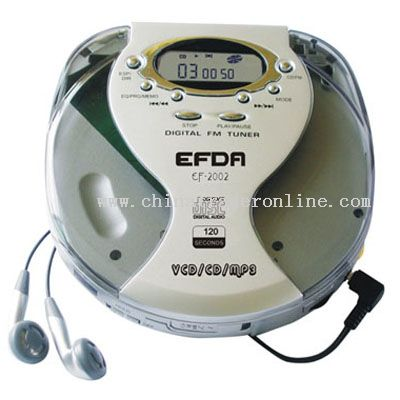 PORTABLE VCD/CD/MP3 WITH DIGITAL FM RADIO
