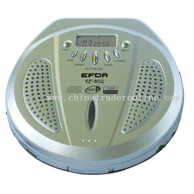 PORTABLE VCD/CD/MP3 WITH INBUILT SPEAKER