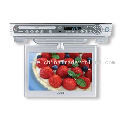10 UNDER THE CABINET DVD/CD/MP3 PLAYER with SWIVEL SCREEN