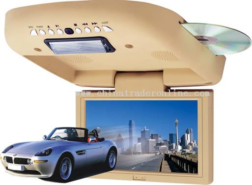 8 inch FULLY-MOTORIED ROOF-MOUNTING TFT LCD COLOR MONITOR BUILT-IN DVD
