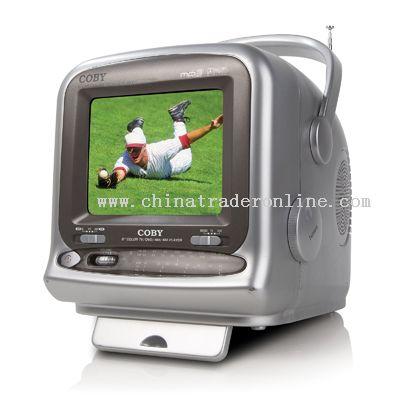 9 COLOR TV with BUILT-IN DVD PLAYER