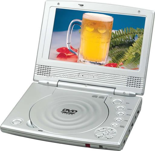 PORTABLE DVD PLAYER WITH 7 inch TFT-LCD