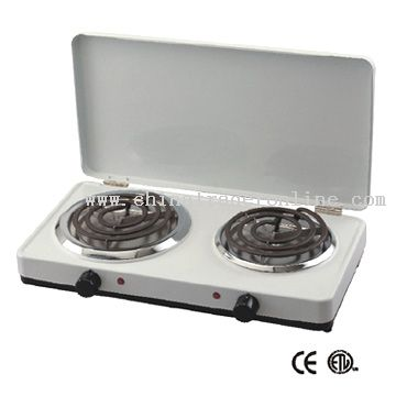 Electric Double Burner with Lid
