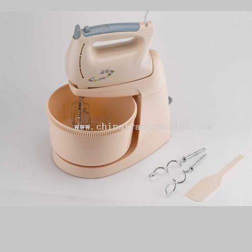 Handmixer with rotary bowl