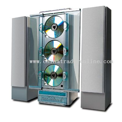 3 CD Vertical CD Player with AM/FM Radio
