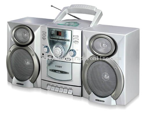 MINI HI-FI CD/STEREO CASSETTE PLAYER/RECORDER with AM/FM TUNER & DETACHABLE SPEAKERS