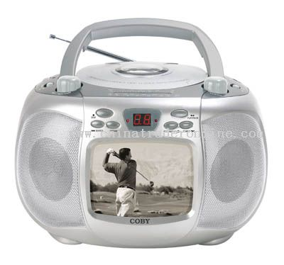 PORTABLE 5 B/W TV with CD PLAYER & AM/FM RADIO
