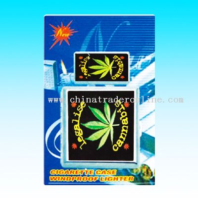 Cigarette Case with windproof lighter gift sets